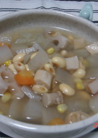 大豆&6種ベジの食べるスープ☆