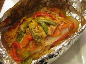 魚のホイル包み焼き☆温野菜と一緒に
