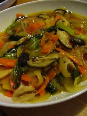 青梗菜で八宝菜