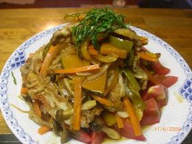 節電レシピ♪夏野菜た~っぷり焼肉マリネ