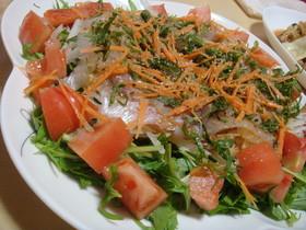 居酒屋メニュー★鯛のカルパッチョ風サラダ