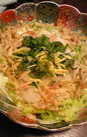 桜鯛のピリっと辛い中華サラダ