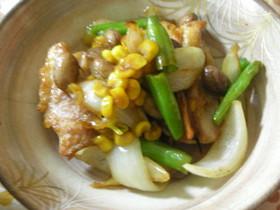 15分で作る鶏肉と玉ねぎとお豆の塩煮込み