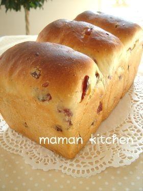 ふんわり♡はちみつクランベリー食パン