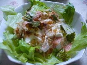 ヘルスィー★豆腐の明太マヨソースサラダ