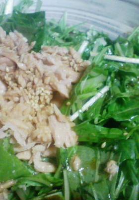 簡単☆水菜とツナの和風サラダ