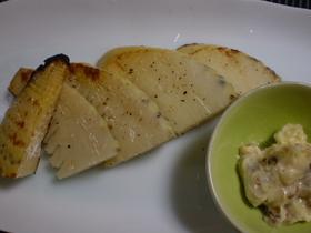 筍のグリル焼き アンチョビバター添え