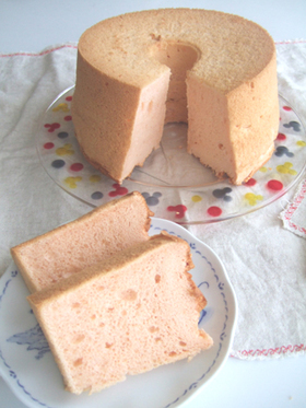 さくらシフォンケーキ