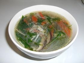鶏団子の中華スープ