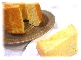 ホワイトチョコのシフォンケーキ