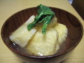 春を味わう!豆腐とタケノコの揚げだし