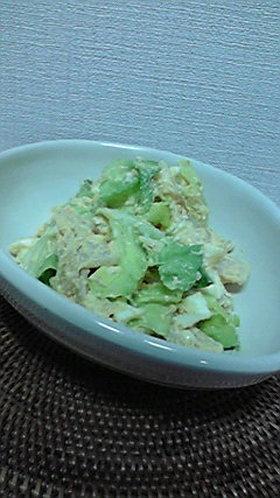 れんこんと卵のサラダ