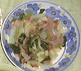 小松菜とポテトの温サラダ