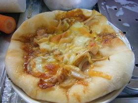 スマートチーズで☆テリヤキチキンピザ