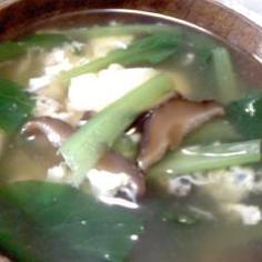小松菜と卵の簡単スープ