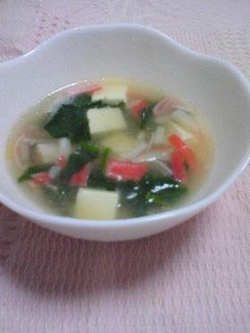 カニカマを使って☆あっさり中華風スープ