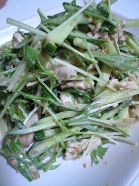 きゅうり・水菜・鶏のゴママヨサラダ