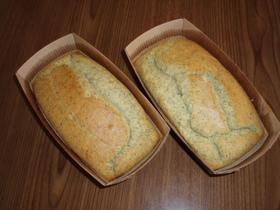 煎茶と米粉のパウンドケーキ