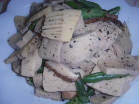 筍と高野豆腐煮