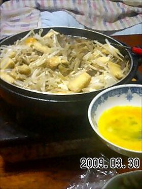 鶏肝のすき焼き