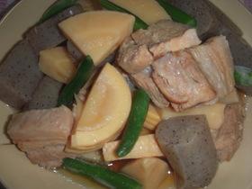 圧力鍋で筍と豚バラ煮