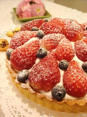 苺とブルーベリーのベリーベリータルト♡