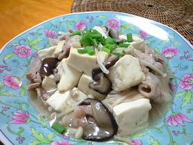 きのこと豆腐のとろみ炒め