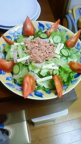 チーズ入り野菜サラダ