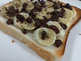 簡単♪ 板チョコとバナナのトースト