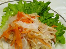 新玉葱とニンジンのサラダ