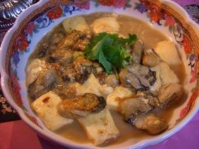 牡蠣と豆腐のオイスターソース炒め
