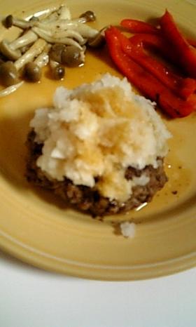 ヘルシーリッチな味☆豆腐おろしハンバーグ