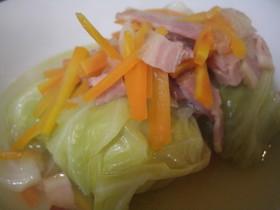 春キャベツで野菜たっぷりロールキャベツ