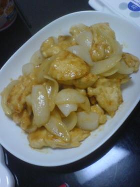 鶏胸肉と新たまねぎの味噌炒め☆ミ