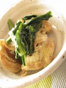 車麩と小松菜の炒め物