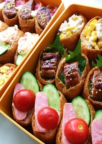 簡単おもてなし☆彩りいなり寿司