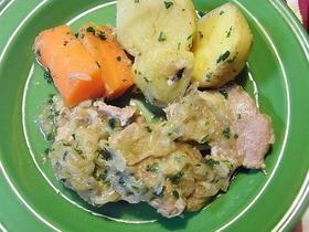 豚フィレ肉のオニオン煮