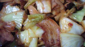 豚肉とキャベツの四川風(甘辛)炒め