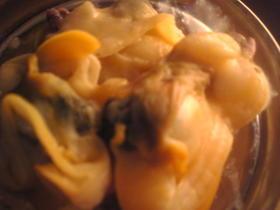アオヤギの辛子酢味噌和え