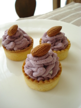 紫芋♡プチタルト