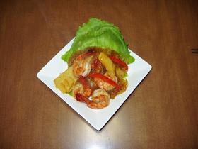 海老と筍の中華炒め