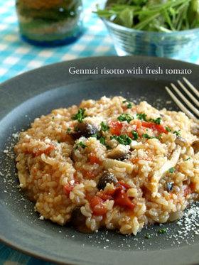 実は簡単♪玄米トマトリゾット