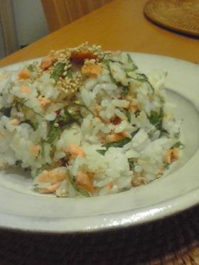 簡単!サケとシソのさっぱり寿司
