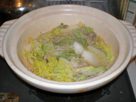 豚肉と白菜の重ね土鍋蒸し【減塩メニュー】