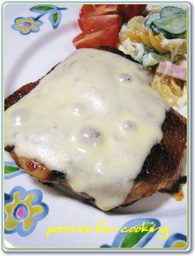 鶏肉のガーリックポンチーズ焼き♪