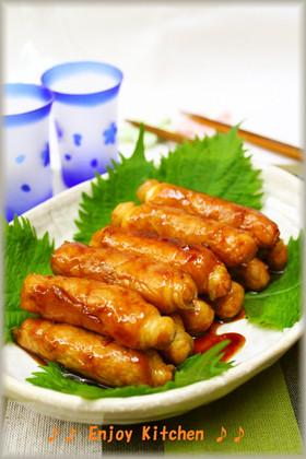 ヘルシー♪豆腐の豚肉巻き甘辛煮