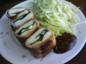肉巻き高野豆腐・青じそチーズサンド