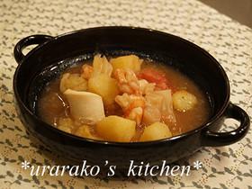 野菜と魚介のトマト煮