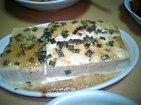 豆腐の味噌マヨ焼き