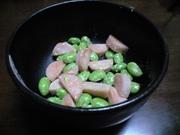お弁当に☆枝豆と魚肉ソーセージのマヨ炒めの写真